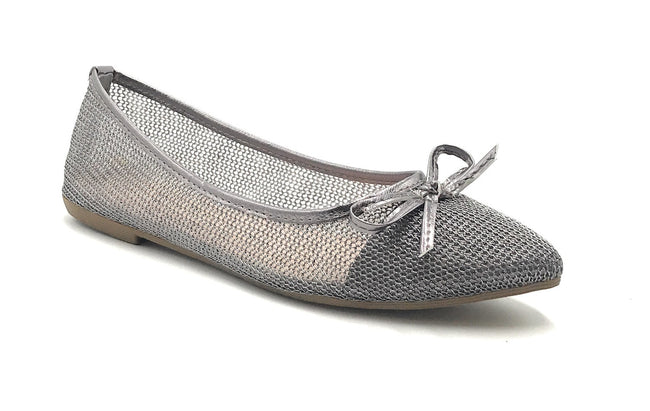 DbDk Dew-1 Pewter Color Ballerina Shoes for Women