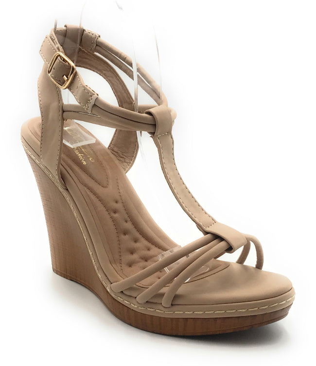 DbDk Elvys-2 Nude Color Wedge Shoes for Women