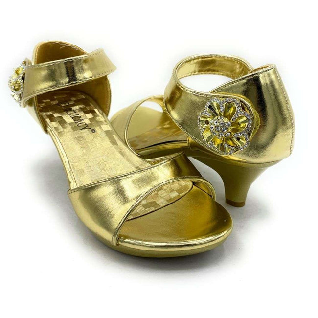 Delicacy Angel-45 Gold Color Heels Shoes for Women