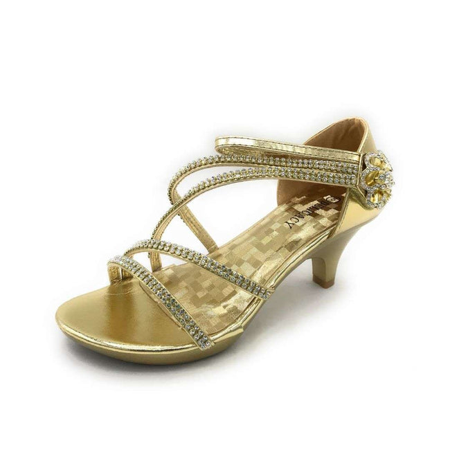 Delicacy Angel-48 Gold Color Heels Shoes for Women