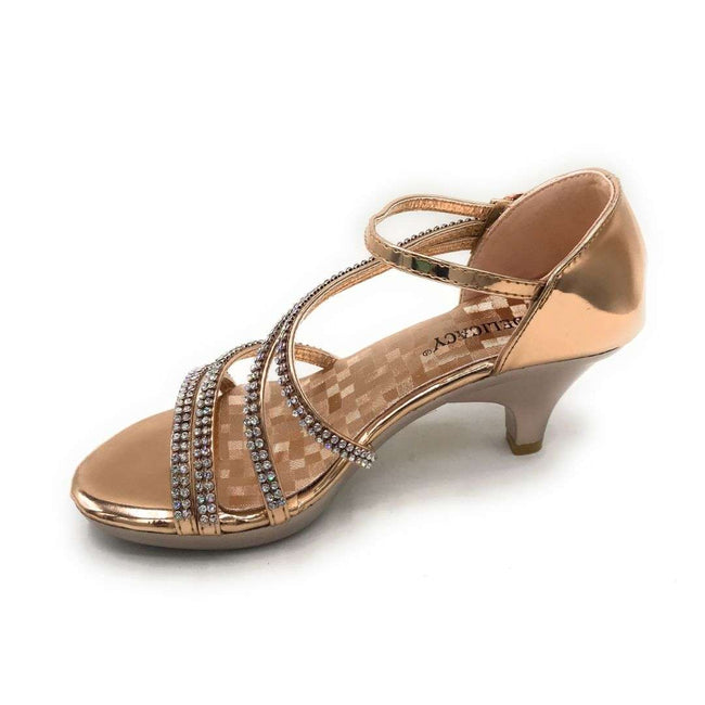 Delicacy Angel-48 Rose Gold Color Heels Shoes for Women