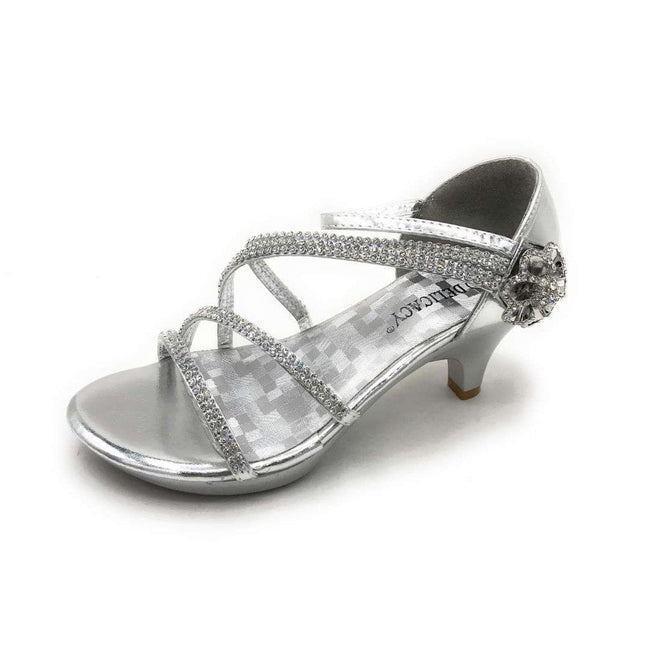 Delicacy Angel-48 Silver Color Heels Shoes for Women
