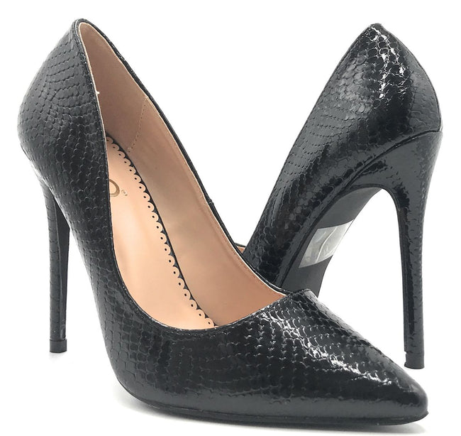 Ego 15893 Black Snake Color Pumps Shoes for Women