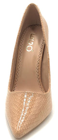 Ego 15893 Nude Snake Color Pumps Shoes for Women
