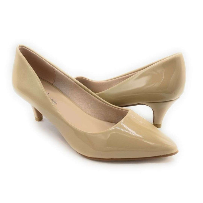 Forever Aubree-16 Beige Pat Color Heels Shoes for Women