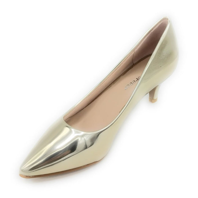 Forever Aubree-16 Gold Color Heels Shoes for Women