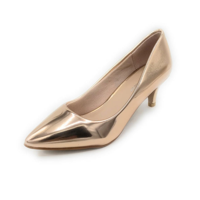 Forever Aubree-16 Rose Gold Color Heels Shoes for Women