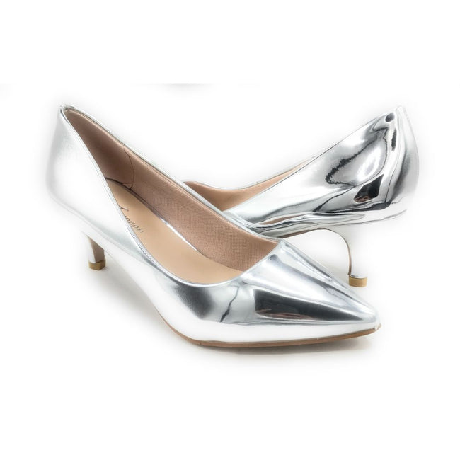 Forever Aubree-16 Silver Color Heels Shoes for Women