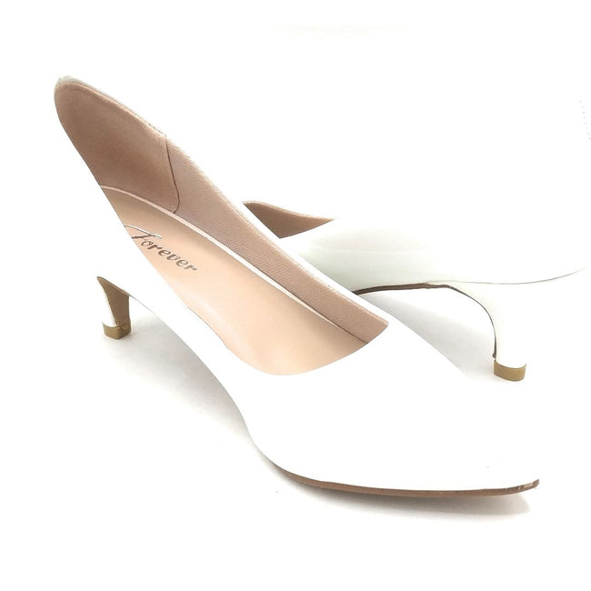 Forever Aubree-16 White Color Heels Shoes for Women