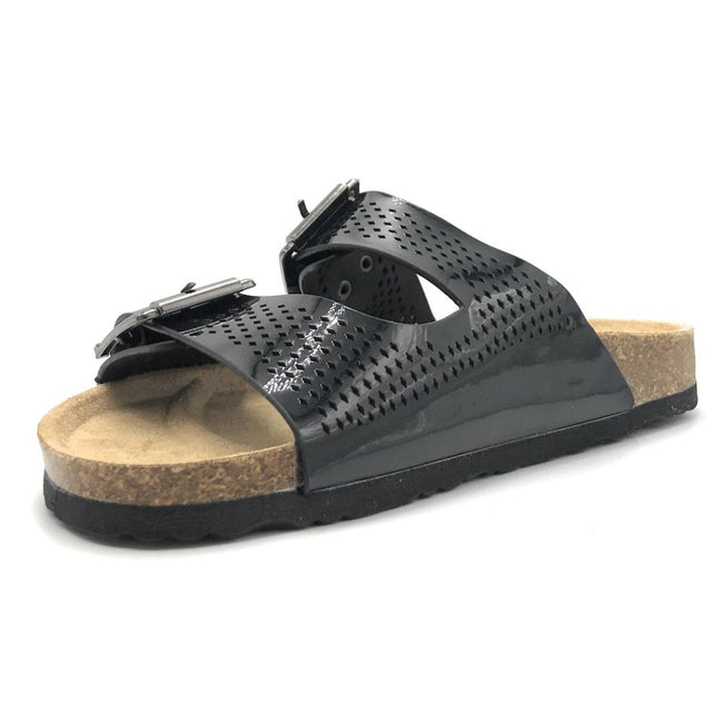 Forever Berk-20 Black Color Flat-Sandals Shoes for Women