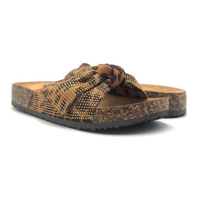 Forever Berk-27 Leopard Color Flat-Sandals Both Shoes together, Women Shoes