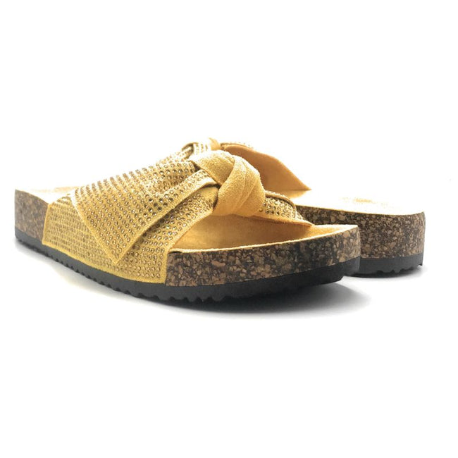 Forever Berk-27 Mustard Color Flat-Sandals Both Shoes together, Women Shoes