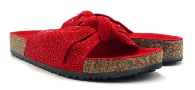 Forever Berk-27 Red Color Flat-Sandals Both Shoes together, Women Shoes