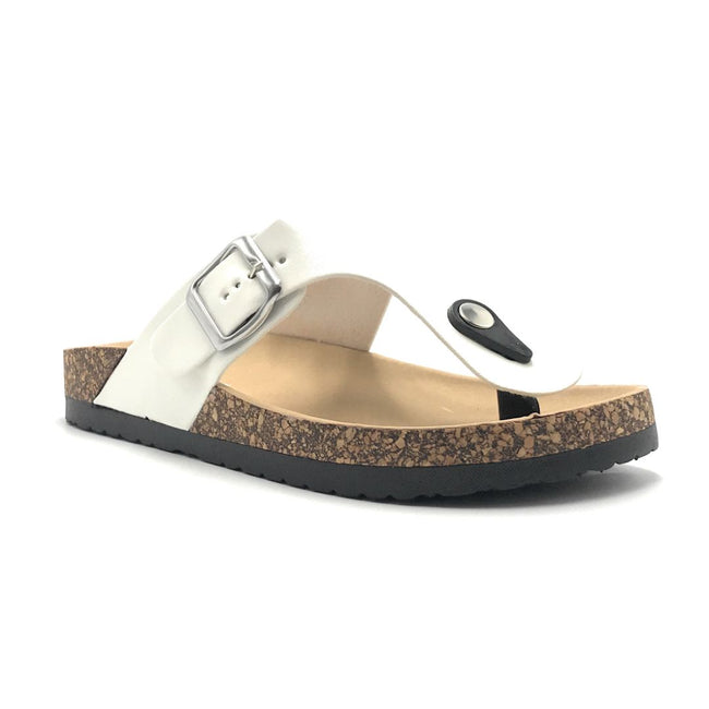 Forever Birken-12 White Color Flat-Sandals Shoes for Women