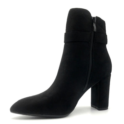 Forever Brazil-23 Black Color Boots Right Side View, Women Shoes