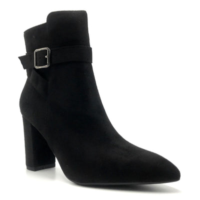 Forever Brazil-23 Black Color Boots Left Side view, Women Shoes
