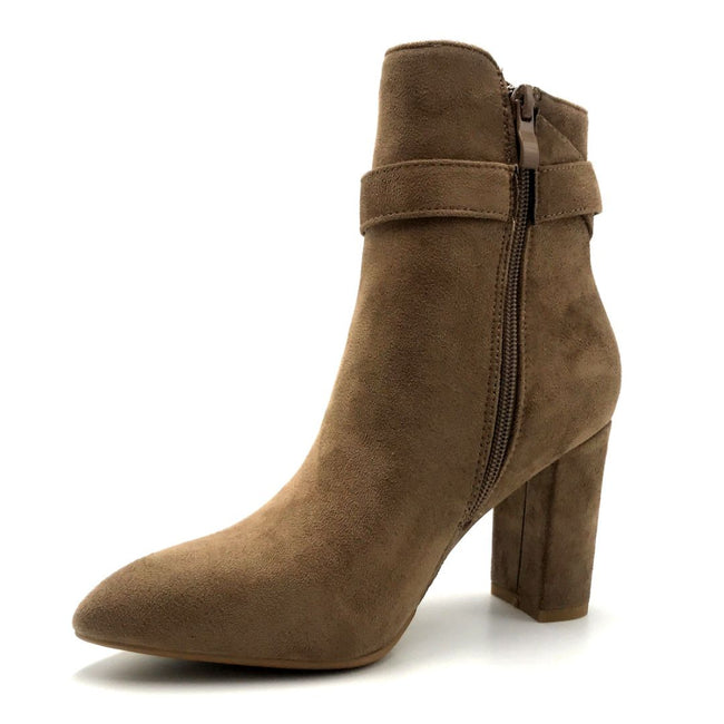 Forever Brazil-23 Taupe Color Boots Right Side View, Women Shoes