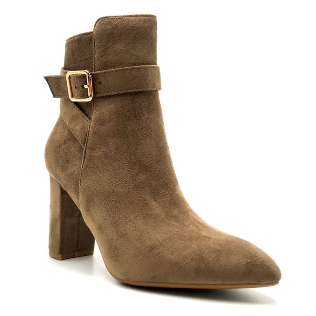 Forever Brazil-23 Taupe Color Boots Left Side view, Women Shoes