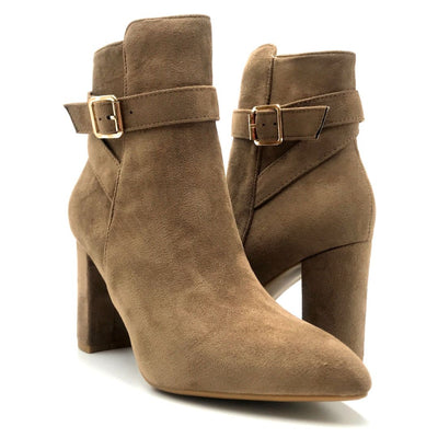 Forever Brazil-23 Taupe Color Boots Both Shoes together, Women Shoes
