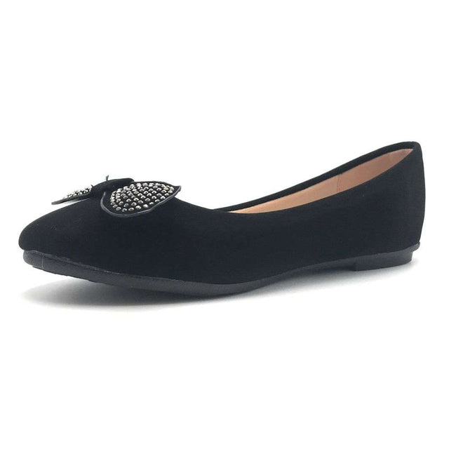 Forever CBC-75 Black Color Ballerina Shoes for Women