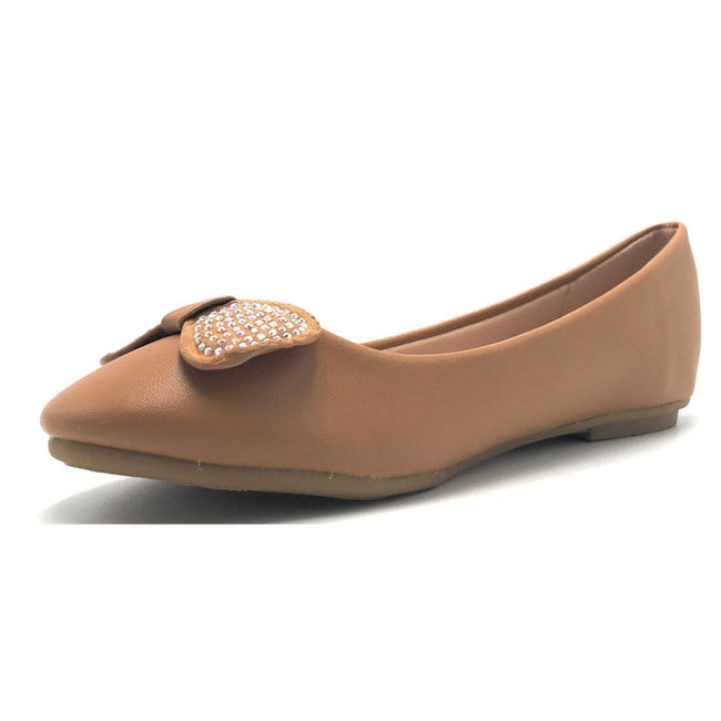 Forever CBC-75 Tan Color Ballerina Shoes for Women