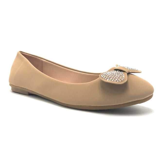 Forever CBC-75 Taupe Color Ballerina Shoes for Women