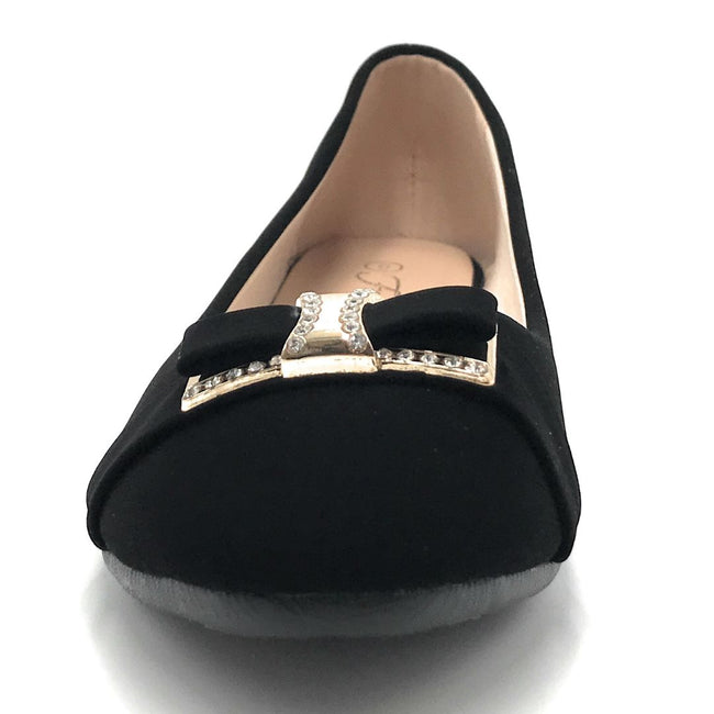 Forever CBC-76 Black Color Ballerina Shoes for Women