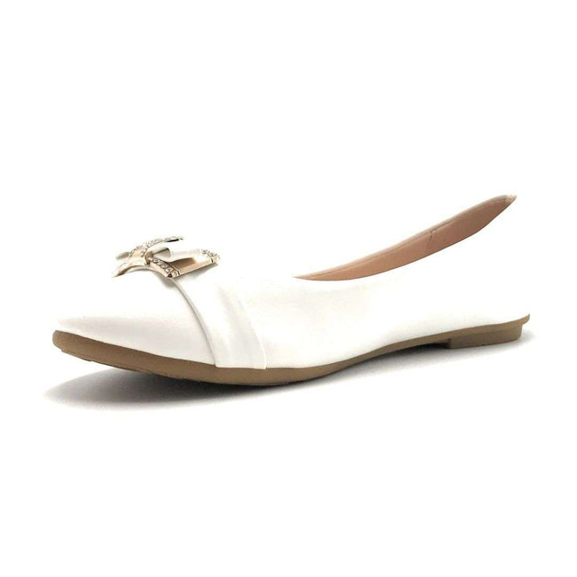Forever CBC-76 White Color Ballerina Shoes for Women