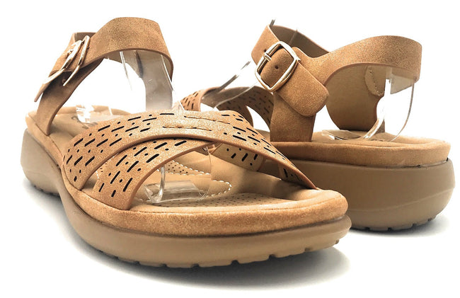 Forever Cali-31 Tan Color Sandal Shoes for Women
