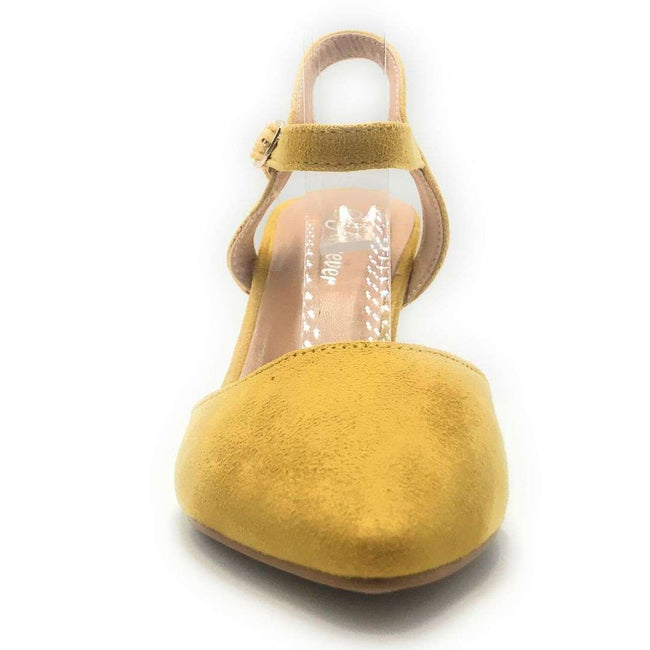 Forever Canty-01 Mustard Color Heels Shoes for Women