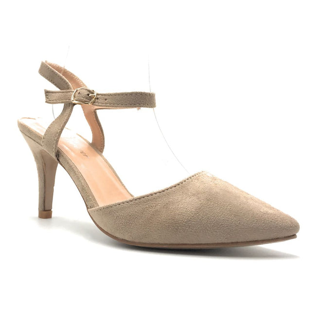 Forever Canty-01 Taupe Color Heels Shoes for Women
