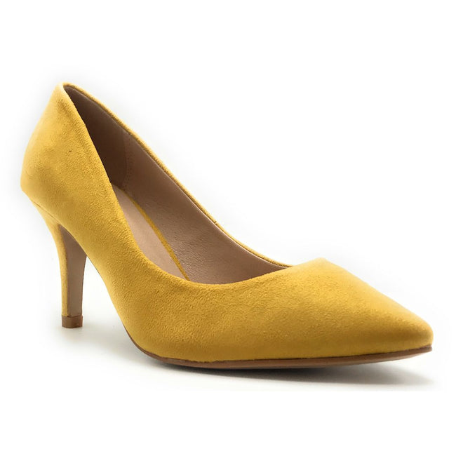 Forever Canty-05 Mustard Color Heels Shoes for Women