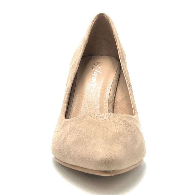 Forever Canty-05 Taupe Color Heels Shoes for Women