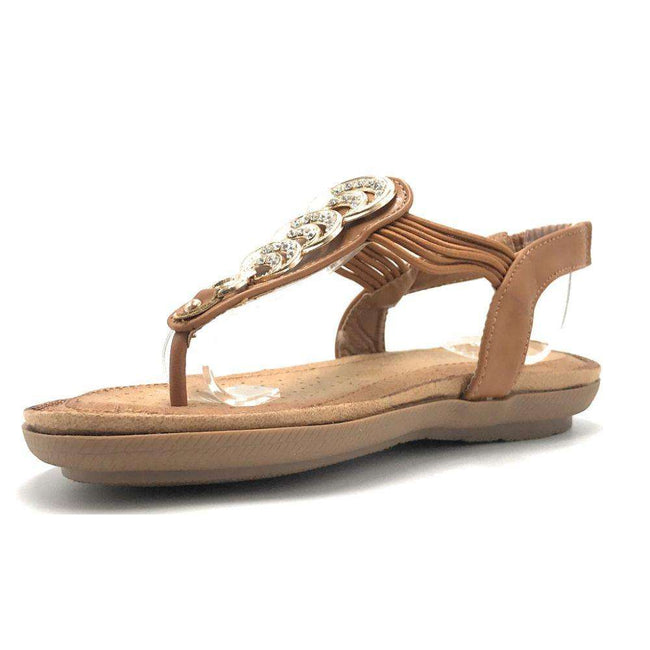 Forever Compas-12 Taupe Color Flat-Sandals Shoes for Women