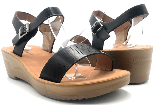Forever Cozy-14 Black Color Sandal Shoes for Women