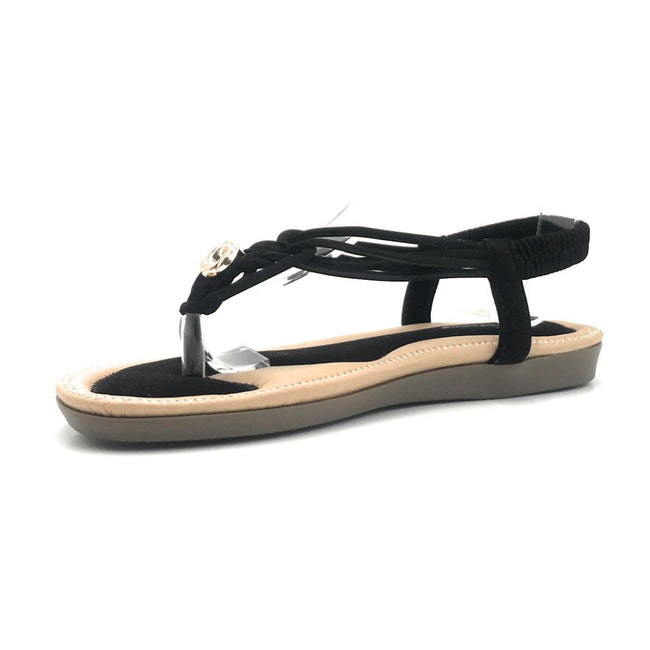 Forever Erita-15 Black Color Flat-Sandals Shoes for Women