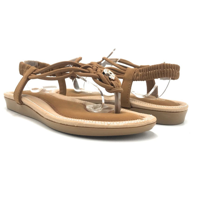 Forever Erita-15 Tan Color Flat-Sandals Shoes for Women