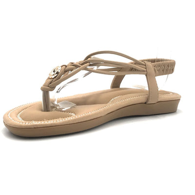 Forever Erita-15 Taupe Color Flat-Sandals Shoes for Women