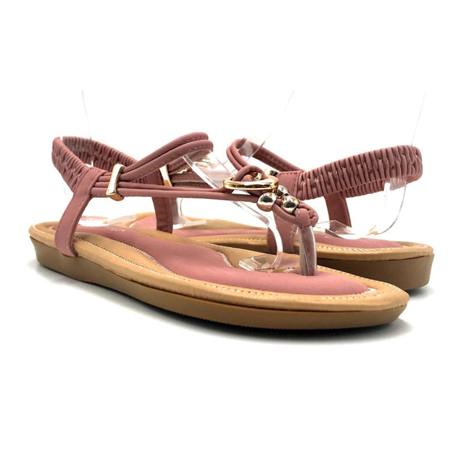 Forever Erita-19 Blush Color Flat-Sandals Both Shoes together, Women Shoes