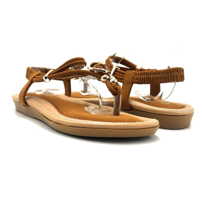 Forever Erita-19 Tan Color Flat-Sandals Both Shoes together, Women Shoes