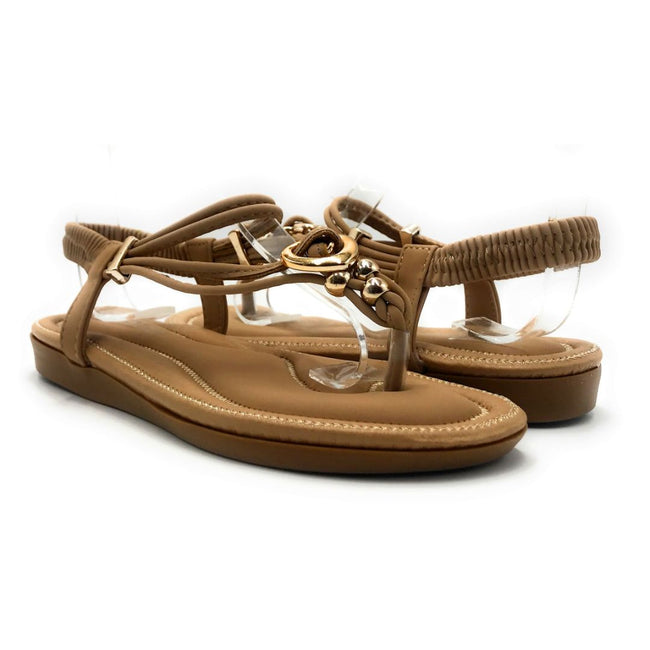 Forever Erita-19 Taupe Color Flat-Sandals Both Shoes together, Women Shoes