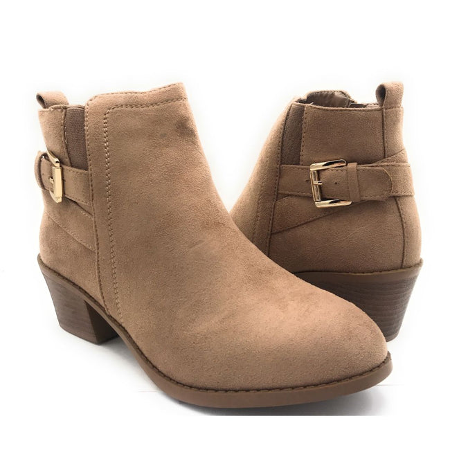Forever Eury-9 Taupe Color Boots Shoes for Women