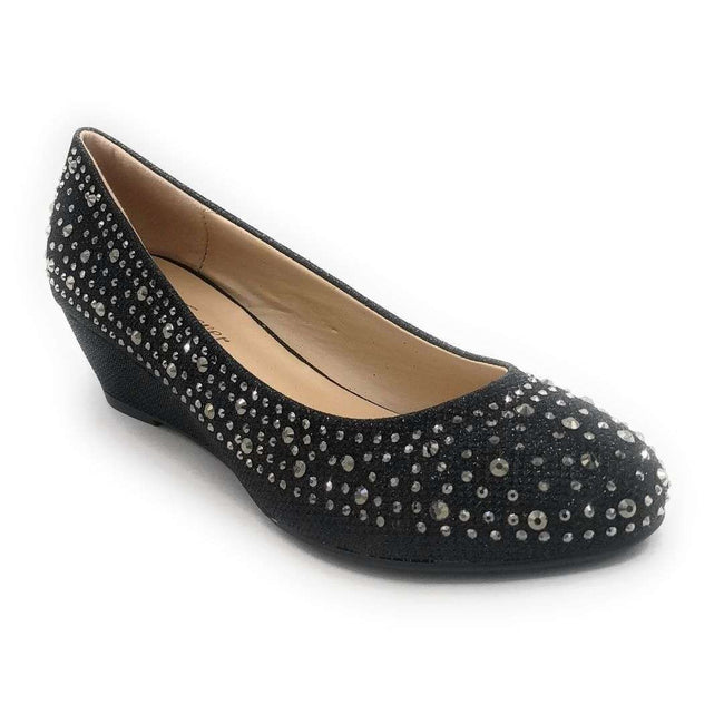 Forever Fisher-02 Black Color Wedge Shoes for Women