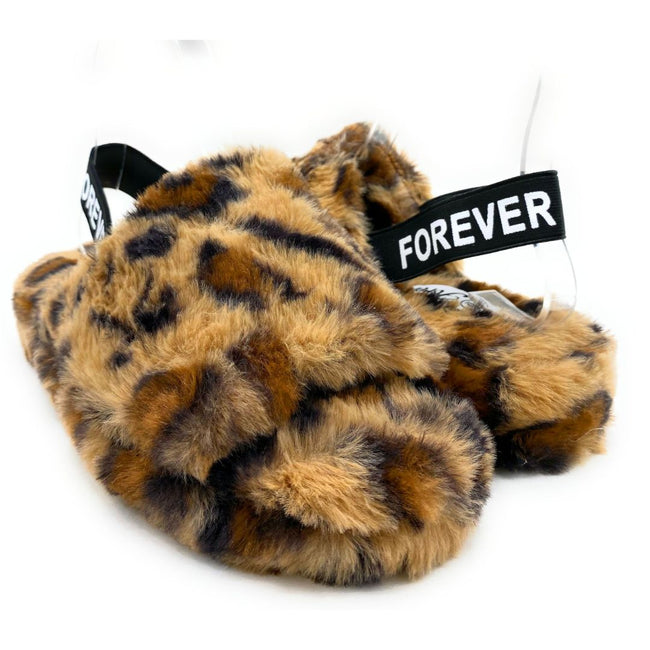 Forever Full-11 Leopard Color Flat-Sandals Both Shoes together, Women Shoes