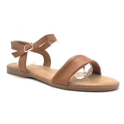 Forever Handy-08 Tan Color Flat-Sandals Shoes for Women