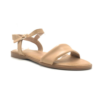 Forever Handy-08 Taupe Color Flat-Sandals Shoes for Women