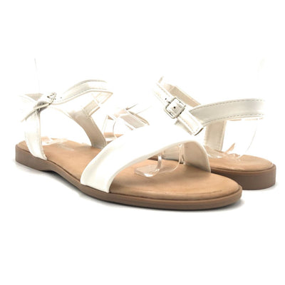 Forever Handy-08 White Color Flat-Sandals Shoes for Women