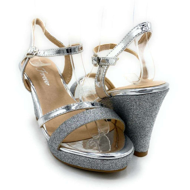 Forever Happy-02 Silver Color Wedge Shoes for Women