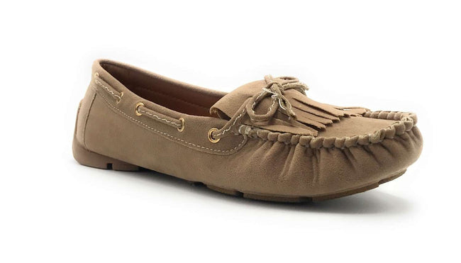 Forever Link Jimmy-04 Taupe Color Ballerina Shoes for Women