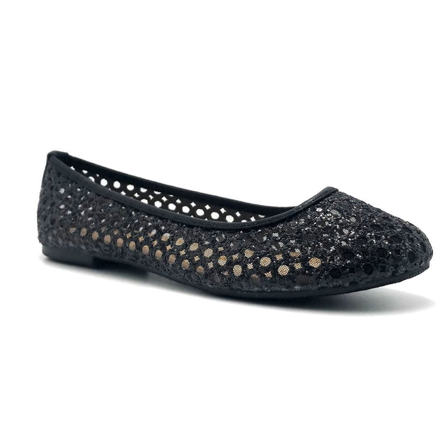 Forever Karra-54 Black Color Ballerina Right Side View, Women Shoes